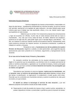 Comunicación Equipos Directivos DGEP (060420)