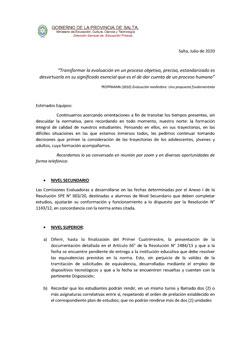 Documento orientador Secundario y Superior DGEP (Julio-2020)