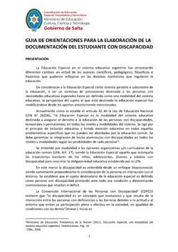 Guía de orientaciones para elaboración documentación del estudiante con discapacidad