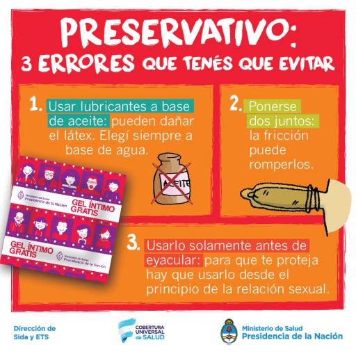 Preservativo: 3 errores que tenés que evitar