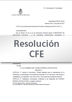 Resolución CFE N° 256-15