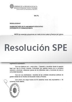 Res. SPE Nº 001-20