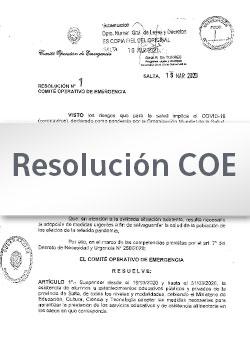 Resolución Nº 11/2020 COE