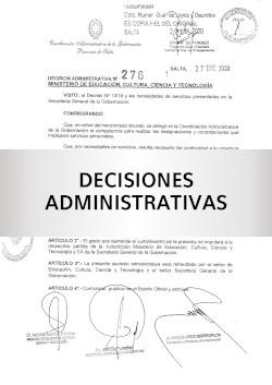 DECISION ADMIN. Nº 280/20