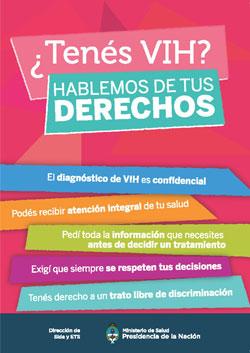 ¿Tenés VIH? Hablemos de tus derechos