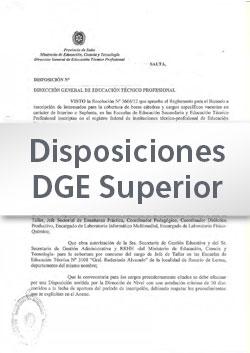 Disposición Nº 019-16 DGESup