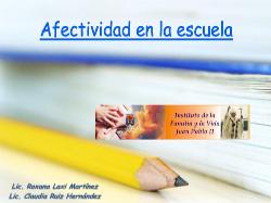 ESI - Afectividad en la escuela