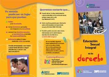 Educación Sexual Integral es tu derecho (adolescentes)
