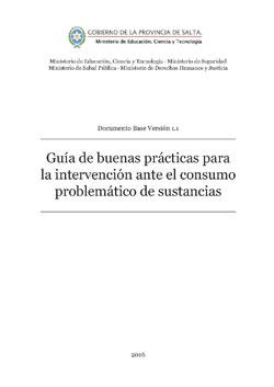 Guía de buenas prácticas para la intervención ante el consumo problemático de sustancias. Ver 1.1