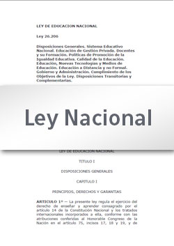 Ley 26150 Programa Nacional de Educación Sexual Integral