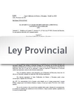 Ley 6896 Modifica Ley 6830 Estatuto del Educador